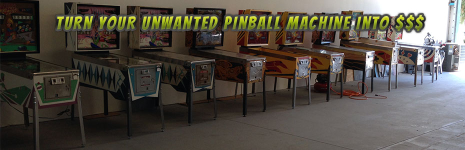 We Buy Used Pinball Machines