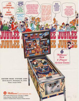Williams Jubilee pinball machine